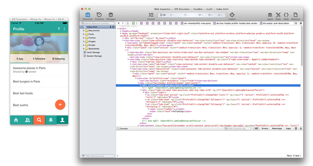 Apache Cordova and Remote Debugging on iOS