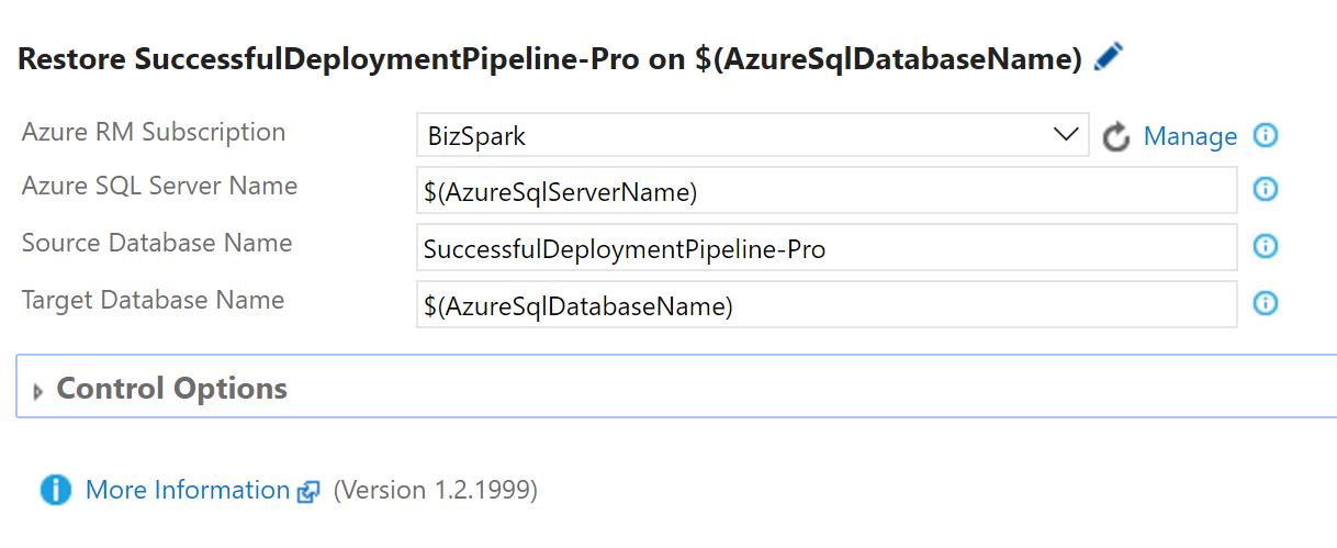 Restore Database Task screenshot